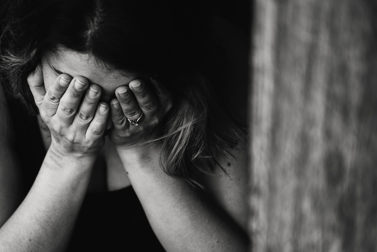 woman struggling in relationship from abuse